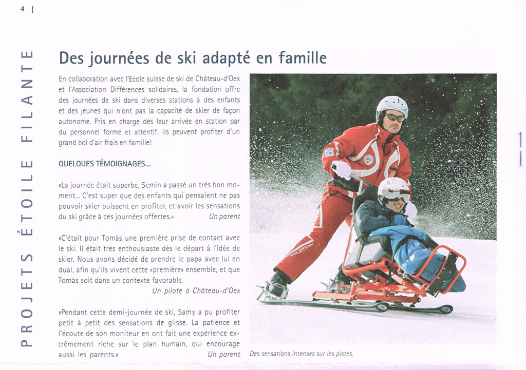 Etoile filante - ski famille
